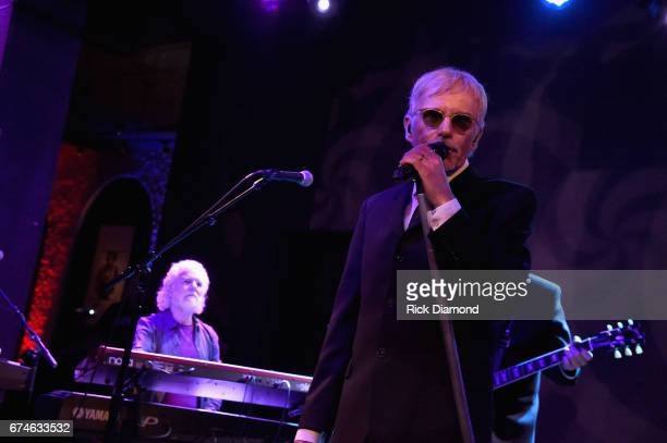 Rolling Stones pianist and musical director Chuck Leavell joins Academy Awardwinning actor Billy Bob Thornton and The Boxmasters onstage during the...