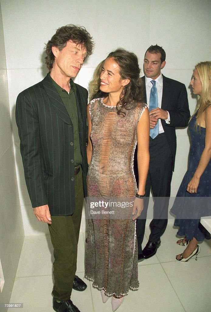 Rolling Stones singer <a gi-track='captionPersonalityLinkClicked' href=/galleries/search?phrase=Mick+Jagger&family=editorial&specificpeople=201786 ng-click='$event.stopPropagation()'>Mick Jagger</a> with his daughter Jade at the launch of her jewellery range, London, 20th September 1999.