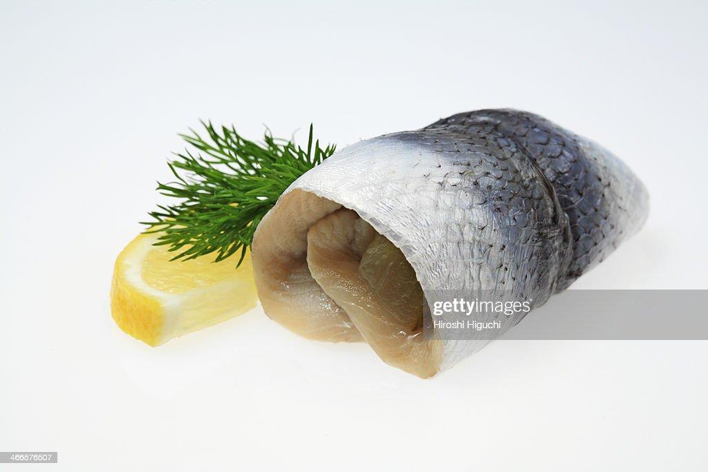 Rollmops, pickled herring