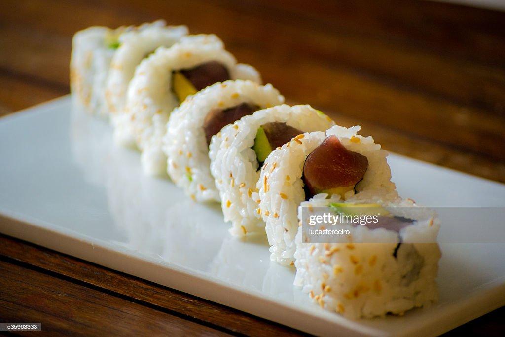 Rollo de Sushi : Stock Photo