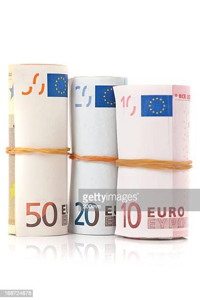 Rolls of Euro Bills