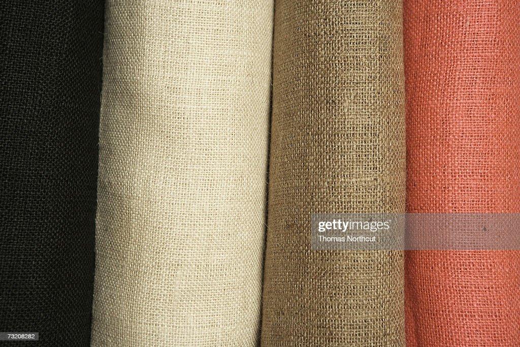 Rolls of linen, close-up : Stock Photo