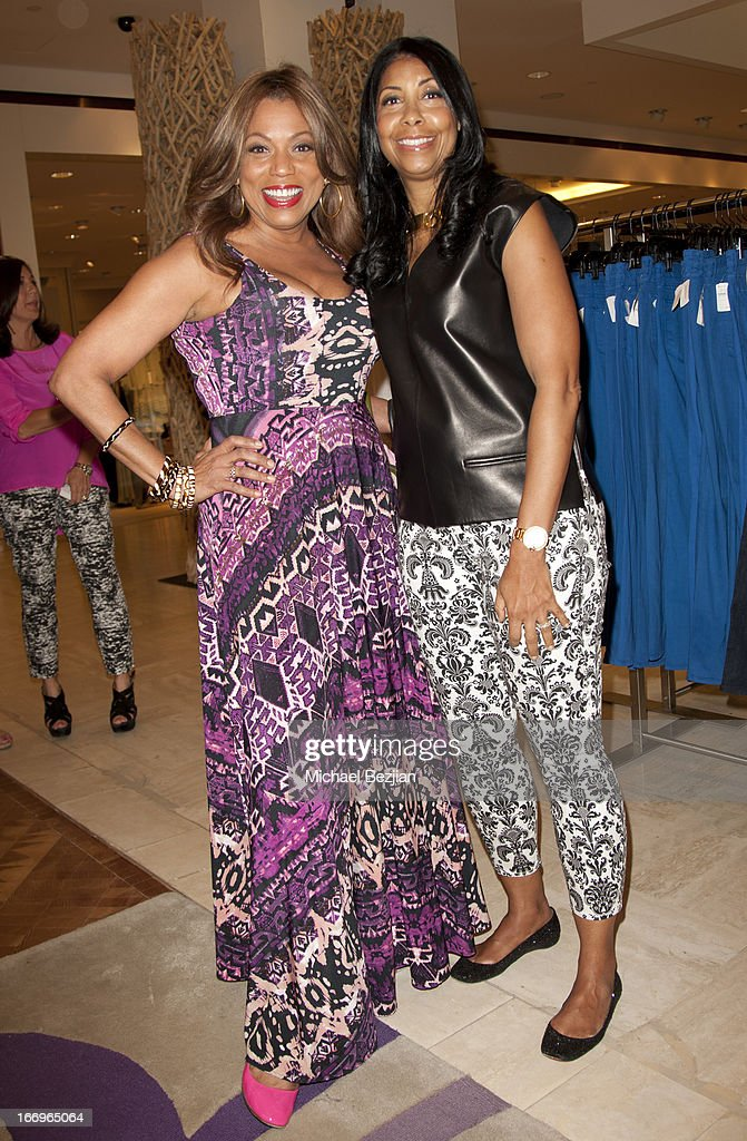 Rolonda Watts and Cookie Johnson attend Cookie Johnson and Neiman Marcus host Girls Night Out on April 18, 2013 in Beverly Hills, California.