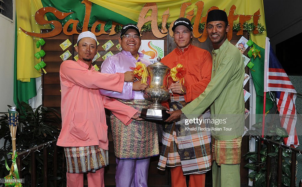 rom left) Asian Tour players Sukree Othman of Malaysia, Panuphol Pittayarat of Thailand and defending champion Joonas Granberg of Finland and Shaaban Hussin of Malaysia pose with the Worldwide Holdings Selangor Masters trophy during previews ahead of the Worldwide Holdings Selangor Masters at Kota Permai Golf and Country Club on September 4, 2012 in Shah Alam, Selangor, Malaysia.