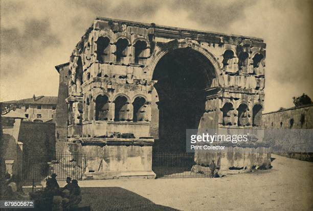 Roma Arch of Janus Quadrifrons in the Forum Boarium' 1910 Built in the early 4th century CE using spolia ie material from earlier buildings including...