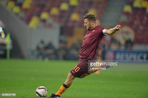 Roma captain Francesco Totti during the UEFA Europa League match between FC Astra Giurgiu and AS Roma at on December 8 2016 in Bucharest
