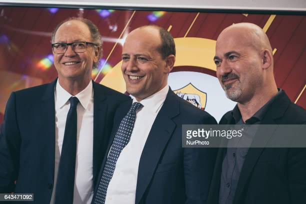 AS Roma CEO Mauro Baldissoni pose with the ex player fo As Rome Paulo Roberto Falcao at the end of presentation documentary quotTell me who's...