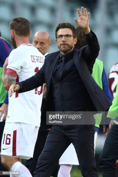 Roma coach Eusebio Di Francesco after the Serie A football match n9 TORINO ROMA on at the Stadio Olimpico Grande Torino in Turin Italy