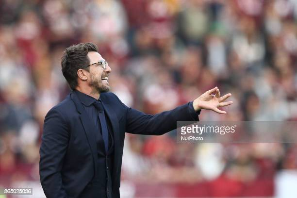 Roma coach Eusebio Di Francesco during the Serie A football match n9 TORINO ROMA on at the Stadio Olimpico Grande Torino in Turin Italy