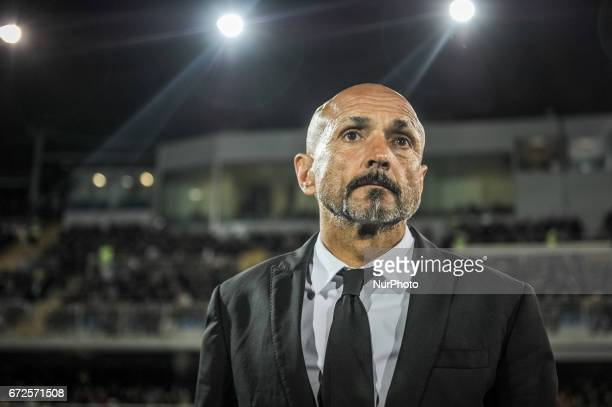 AS Roma coach Luciano Spalletti during the Serie A match between Pescara Calcio and AS Roma at Adriatico Stadium on April 24 2017 in Pescara Italy