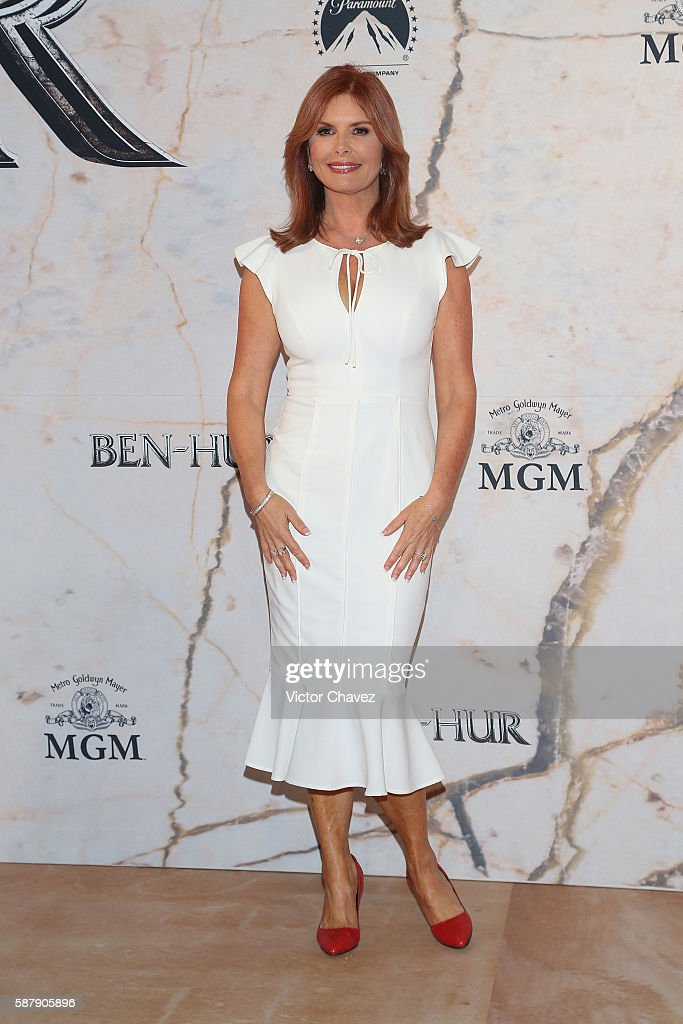 Roma Downey attends the Mexico Premiere of the Paramount Pictures 'BenHur' at Metropolitan Theater on August 9 2016 in Mexico City Mexico
