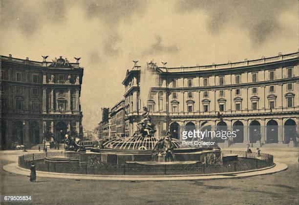 Roma Esedra Square and the Naiades Fountain' From Cento Vedute Classiche di Roma [Enrico Verdesi Rome ] Artist Unknown