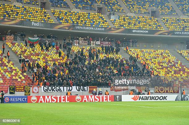 Roma fans during the UEFA Europa League match between FC Astra Giurgiu and AS Roma at on December 8 2016 in Bucharest