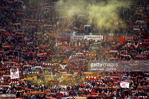 Roma fans enjoy the game