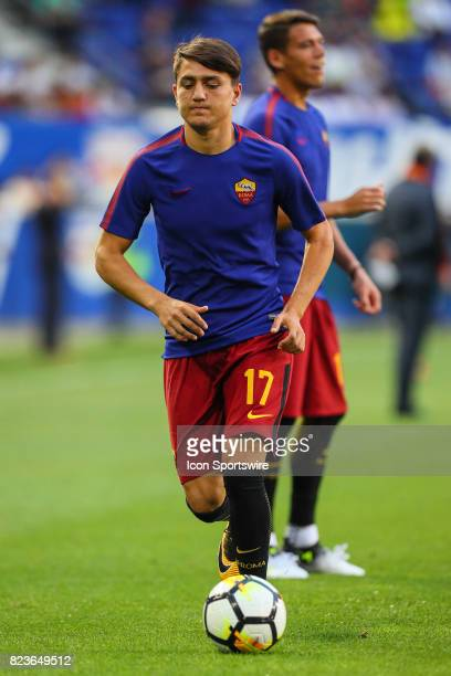 Roma forward Cengiz Under during warms up prior to the International Champions Cup soccer game between Tottenham Hotspur and Roma on July 25 at Red...