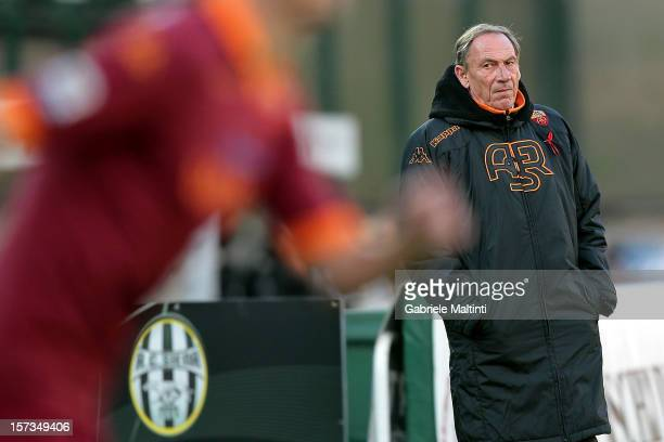 Roma head coach Zdenek Zeman looks during the Serie A match between AC Siena and AS Roma at Stadio Artemio Franchi on December 2 2012 in Siena Italy