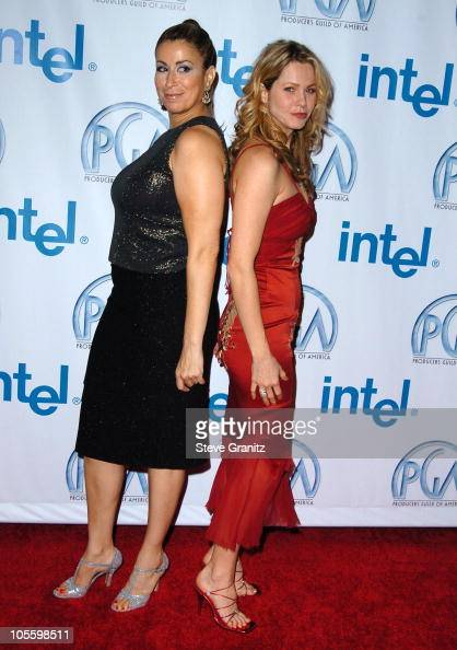 Roma Maffia and Andrea Roth during 16th Annual Producers Guild Awards Arrivals at Culver Studios in Culver City California United States