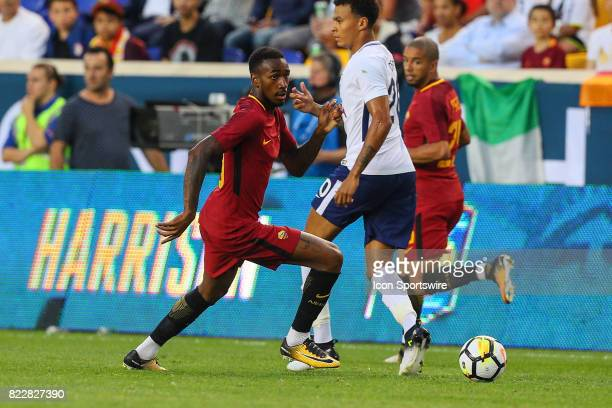 Roma midfielder Gerson during the first half of the International Champions Cup soccer game between Tottenham Hotspur and Roma on July 25 at Red Bull...