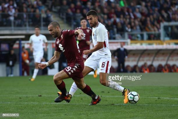 Roma midfielder Kevin Strootman in action during the Serie A football match n9 TORINO ROMA on at the Stadio Olimpico Grande Torino in Turin Italy