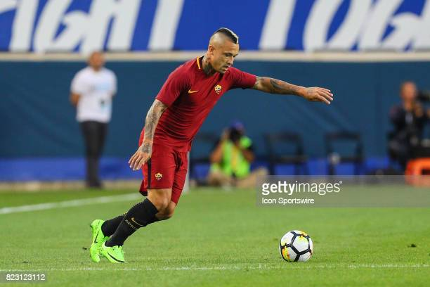 Roma midfielder Radja Nainggolan during the first half of the International Champions Cup soccer game between Tottenham Hotspur and Roma on July 25...