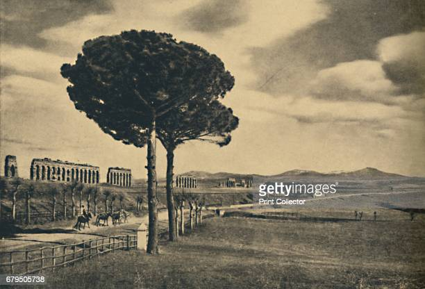 Roma Neio Appian Way Ruins of the Aquaduct of Claudius The Alban Hills' 1910 The Appian Way was one of the earliest and strategically most important...