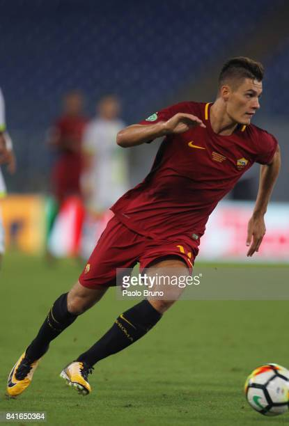 Roma new player Patrik Schick in action during the friendly match between AS Roma and Chapecoense at Olimpico Stadium on September 1 2017 in Rome...
