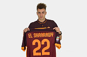 AS Roma new signing Stephan El Shaarawy poses for a portrait session January 26 2016 in Rome Italy