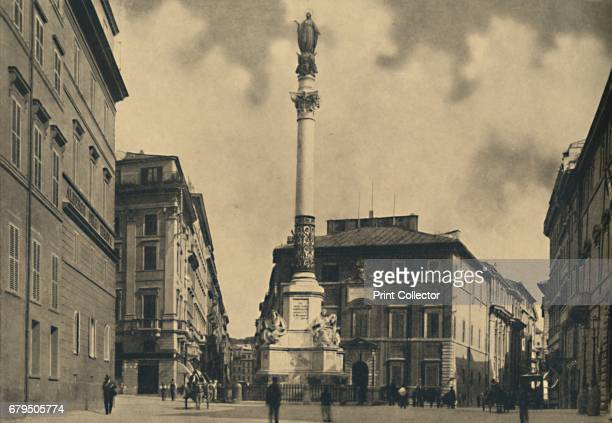 Roma Piazza di Spagna' 1910 Palace of Propaganda and Column of the Immaculate Conception Column of the Immaculate Conception is a nineteenthcentury...