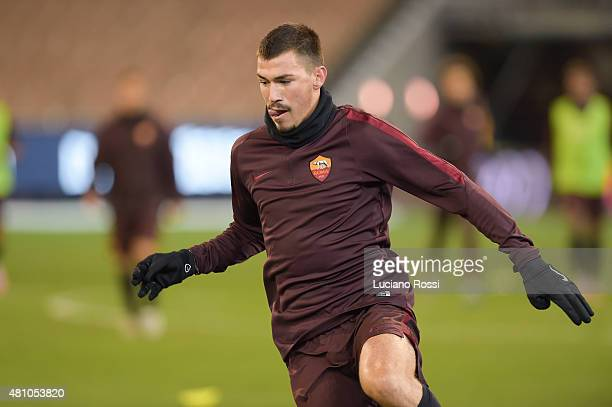 Roma player Alessio Romagnoli during an AS Roma training session at Melbourne Cricket Ground on July 17 2015 in Melbourne Australia