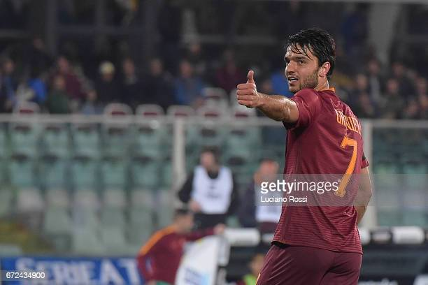 Roma player Clement Grenier during the Serie A match between Pescara Calcio and AS Roma at Adriatico Stadium on April 24 2017 in Pescara Italy