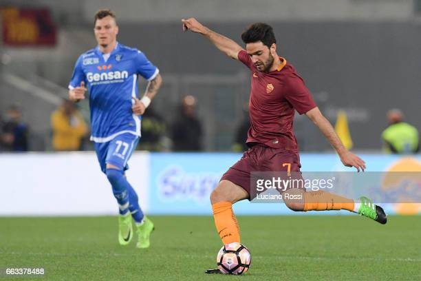 Roma player Clement Grenier in action during the Serie A match between AS Roma and Empoli FC at Stadio Olimpico on April 1 2017 in Rome Italy