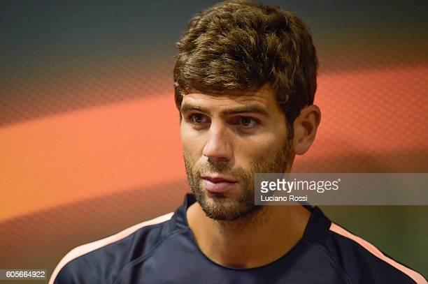 Roma player Federico Fazio attends a press conference on the eve of their UEFA Europa League Group stage match against FC Viktoria Plzen on September...
