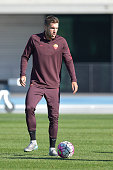 Roma player Kevin Strootman during the training session at Melbourne Lakeside Stadium on July 20 2015 in Melbourne Australia