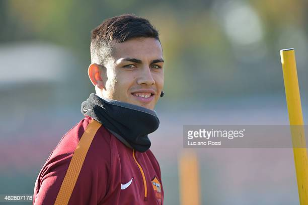 Roma player Leandro Paredes during the training session at Centro Sportivo Fulvio Bernardini on January 27 2015 in Rome Italy