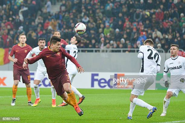 Roma player Manuel Iturbe during the UEFA Europa League match between FC Astra Giurgiu and AS Roma at on December 8 2016 in Bucharest Romania