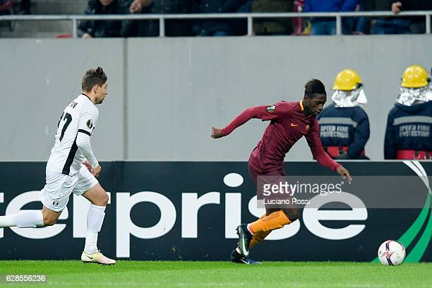 Roma player Moustapha Seck in action during the UEFA Europa League match between FC Astra Giurgiu and AS Roma at on December 8 2016 in Bucharest...