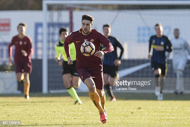 Roma player Riccardo Marchizza during the Primavera Tim Cup juvenile match between AS Roma and FC Internazionale at Stadio Tre Fontane on January 7...