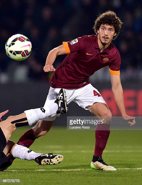 Roma player Salih Ucan during the Serie A match between AC Cesena and AS Roma at Dino Manuzzi Stadium on March 22 2015 in Cesena Italy