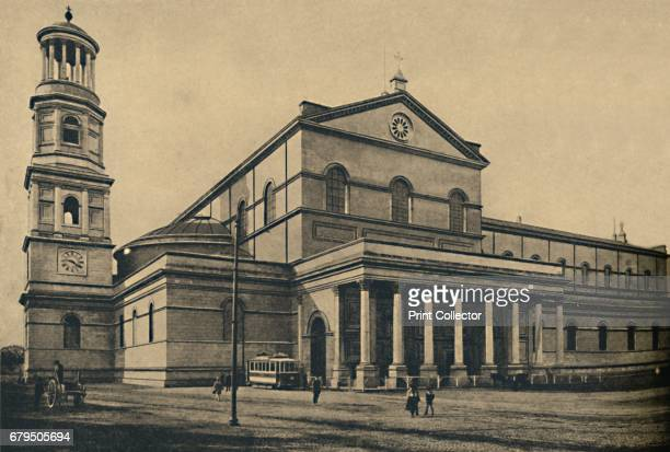 Roma Side portico and bell tower of the Basilica of St Paul without the Walls' 1910 From Cento Vedute Classiche di Roma [Enrico Verdesi Rome 1910]...