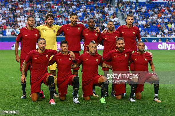 Roma starting eleven prior to the International Champions Cup soccer game between Tottenham Hotspur and Roma on July 25 at Red Bull Arena in Harrison...