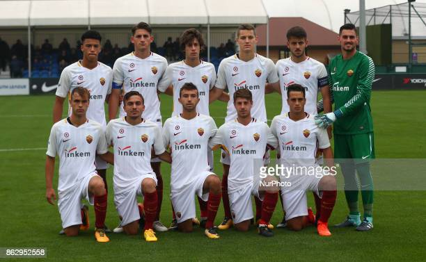 AS Roma Team Shoot during UEFA YouthLeague match between Chelsea Under 19s against AS Roma Under 19s at Cobham Training Ground Cobham on 18 Oct 2017