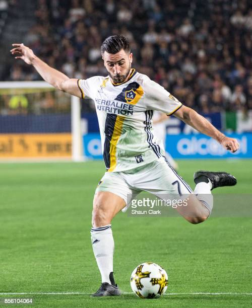 Romain Alessandrini of Los Angeles Galaxy during the Los Angeles Galaxy's MLS match against Real Salt Lake at the StubHub Center on September 30 2017...