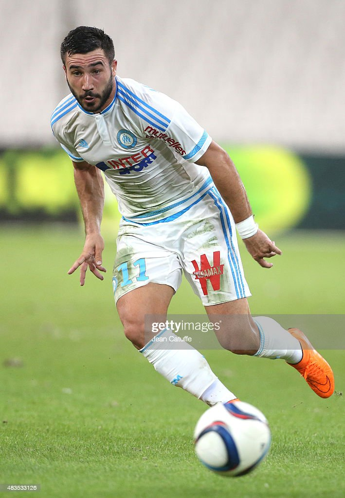 <a gi-track='captionPersonalityLinkClicked' href=/galleries/search?phrase=Romain+Alessandrini&family=editorial&specificpeople=9572619 ng-click='$event.stopPropagation()'>Romain Alessandrini</a> of OM in action during the French Ligue 1 match between Olympique de Marseille (OM) and SM Caen at Stade Velodrome on August 8, 2015 in Marseille, France.