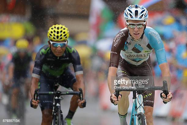 Romain Bardet of France and AG2R La Mondial Team finsihes during stage twenty of the 2016 Le Tour de France from Megeve to Morzine on July 23 2016 in...