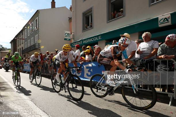 Romain Bardet of France riding for AG2R La Mondiale rides during stage 13 of the 2017 Le Tour de France a 101km stage from SaintGirons to Foix on...