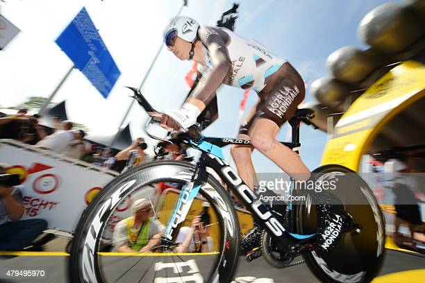 Romain Bardet of Team AG2R La Mondiale competes during Stage One of the Tour de France on Saturday 04 July 2015 Utrecht The Netherlands