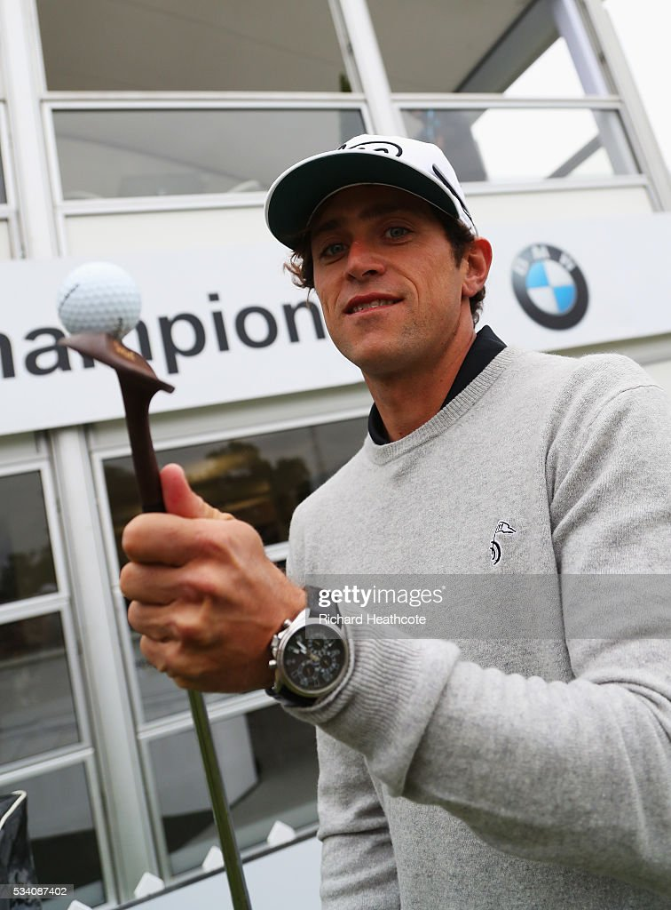 Romain Bechu poses during the Pro-Am prior to the BMW PGA Championship at Wentworth on May 25, 2016 in Virginia Water, England.