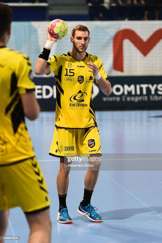 Romain Briffe of Chambery during Lidl Star Ligue match between Montpellier and Chambery on September 13, 2017 in Montpellier, France.