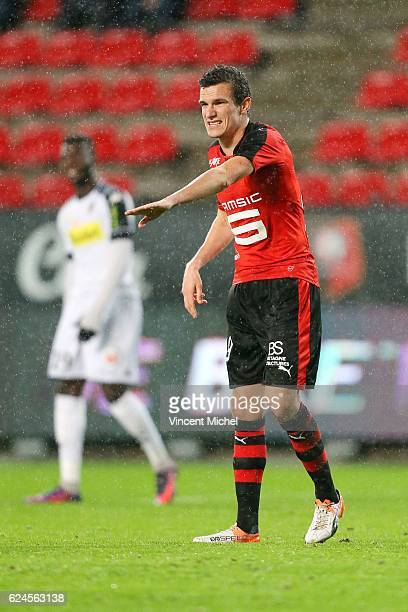 Romain Danze of Rennes during the Ligue 1 match between Stade Rennais and Sco Angers at Stade de la Route de Lorient on November 19 2016 in Rennes...