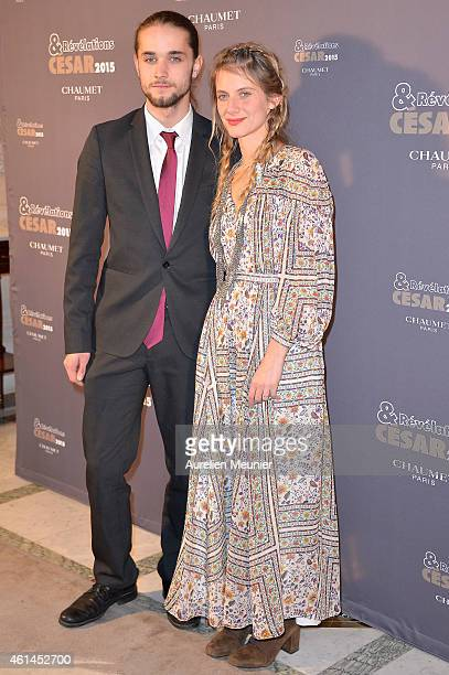 Romain Depret and Melanie Laurent attend the 'Cesar Revelations 2015' Dinner at Hotel Le Meurice on January 12 2015 in Paris France